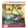 Rocking Shipwreck Aerating Aquarium Ornament by Penn Plax