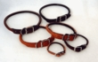 Rolled Round Leather Dog Collars by Auburn Leathercrafters
