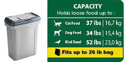 Rubbermaid Pets Scoop'n Store Pet Food Storage Container (26 lbs. food)