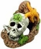 Skull with Starfish Aquarium Ornament by Blue Ribbon