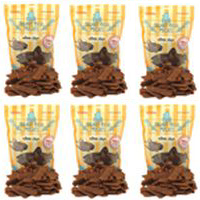 Smart Dog Treats Salmon Strips with Organic Brown Rice & Sea Salt by Plato  6x16oz Bags VALUE PACK