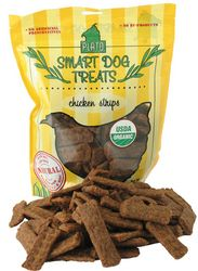 Smart Dog Treats USDA Certified Organic Chicken Strips for Dogs 16oz Bag by Plato