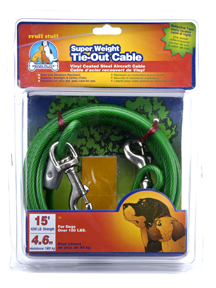 Tie-Out Cables Super Weight Cable 15 Fit