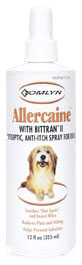 Tomlyn Allercaine with Bittran II Antiseptic, Anti-Itch Spray for Dogs 4 oz.