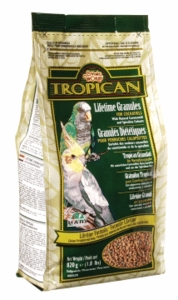 """Tropican"" Lifetime Maintenance Cockatiel Granules, 1.8 lbs., standup zip bag"
