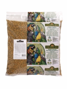 """Tropican"" Lifetime Maintenance Parrot Granules, 20 lbs., air barrier handle bag"