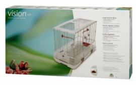"Vision Large Bird Cage #L01, 31""x17""x22"", Small Wire, Single Height, Terracotta Perches & Food/Water Dishes"
