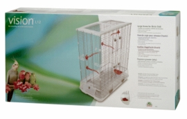 "Vision Large Bird Cage #L12, 31""x17""x37"", Large Wire, Double Height, Terracotta Perches & Food/Water Dishes"