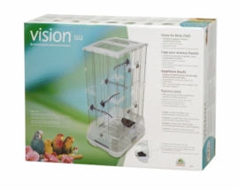 "Vision Small Bird Cage #S02, 19""x15""x33"", Small Wire, Double Height, Blue Perches & Food/Water Dishes"