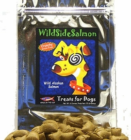 "WildSide ""Crunchy"" Salmon Dog Treats 6 oz"