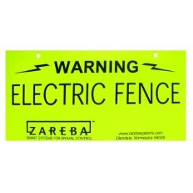 Zareba Warning Sign Yellow - Ws100