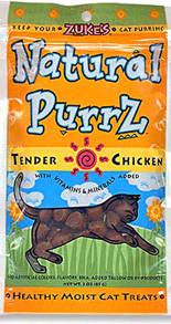 Zukes Natural Purrz Tender Chicken cat treats 3oz.