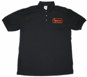 Caution: Karoshi (Death from Overwork) Polo Shirt (black) X-Large