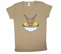 Cheshire Cat Bus (Totoro) Fitted Girl's T-shirt (tan) Large