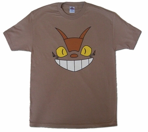 Cheshire Cat Bus (Totoro) T-shirt (tan) Medium