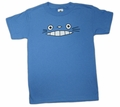 Cheshire Totoro Face Kid's T-shirt (blue) Medium