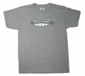 Cheshire Totoro Face Kid's T-shirt (grey) Medium