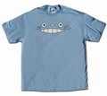 Cheshire Totoro Face T-shirt (blue) X-Large