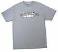 Cheshire Totoro Face T-shirt (gray) Medium