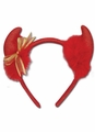 DEVIL HORN HEADBAND- DEVIL GOLD RIBBON HEADBAND