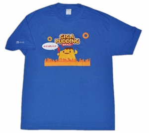Giga Pudding T-shirt (blue) Small