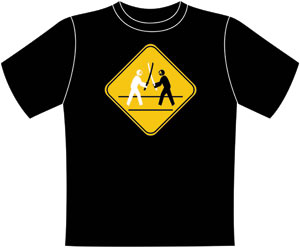 Ninja Crossing T-shirt (black) S