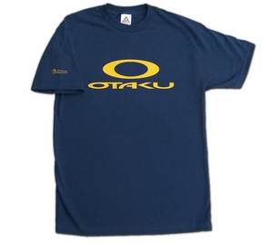 Otaku (Oakley Parody) T-shirt (dark blue) X-Large
