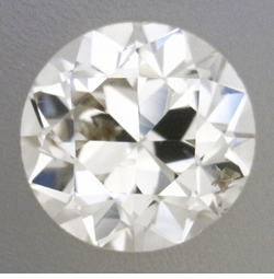 0.26 Carat Loose Vintage Transitional Round Brilliant Cut Diamond K Color SI2 Clarity