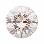 0.29 Carat Loose Pale Peach Pink Diamond | Natural Color Round Brilliant VS1 Clarity
