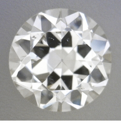 0.35 Carat Loose Vintage Transitional Round Brilliant Cut Diamond J Color VS2 Clarity
