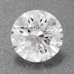 0.38 Carat Affordable Loose Round Hearts and Arrows Diamond F Color I1 Clarity   EGL USA Certificate
