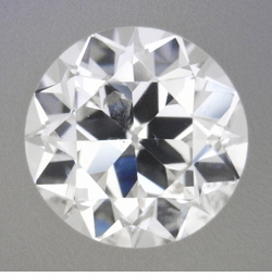 0.42 Carat Loose Vintage Transitional Round Brilliant Cut Diamond F Color SI3 Clarity