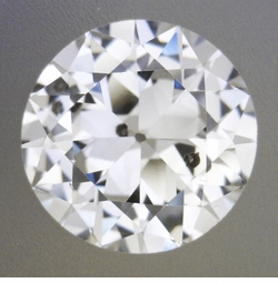 0.51 Carat Loose Vintage Transitional Round Brilliant Cut Diamond G Color SI2 Clarity