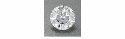 0.53 Carat Round Loose Diamond D Color SI1 Clarity Ideal Cut | EGL Report 5.2mm | Brilliant Hearts and Arrows