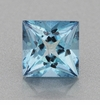 0.59 Carat Natural Princess Cut Deep Cerulean Blue Fine Aquamarine Gemstone | 5mm Square