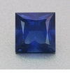 1.30 Carat Princess Cut Blue Sapphire | Rare 6mm Square Gemstone