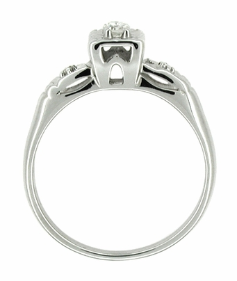 14 Karat White Gold Retro Moderne Antique Diamond Engagement Ring - Item R216 - Image 1