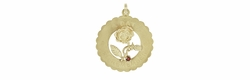 """""""A Date to Remember"""" Pendant in 14 Karat Yellow Gold 