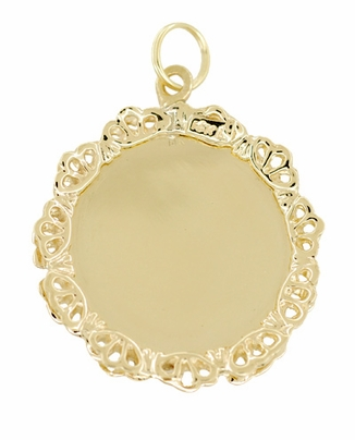 """A Date to Remember"" Vintage Wedding Anniversary Pendant in 14 Karat Yellow Gold - Item C403 - Image 1"