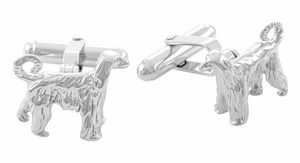 Afghan Hound Cufflinks in Sterling Silver - Item SCL151 - Image 1