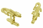 Alligator Cufflinks in 14 Karat Gold