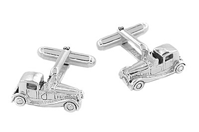 Antique Car Cufflinks in Sterling Silver