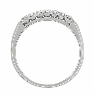 Antique Retro Moderne Diamond Row Filigree Wedding Ring in 14 Karat White Gold - Item R750 - Image 1