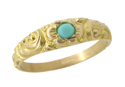 Antique Victorian Baby Ring in 14 Karat Gold