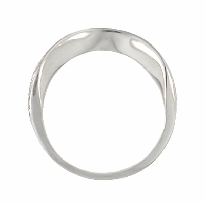 Art Deco Curved Engraved Scrolls Wedding Ring in 18 Karat White Gold - Item R1137W - Image 3
