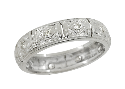 Art Deco Fenwick Diamond Antique Wedding Ring in Platinum - Size 6