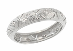 Art Deco Deerfield Antique Diamond Wedding Band in Platinum - Size 6 1/2