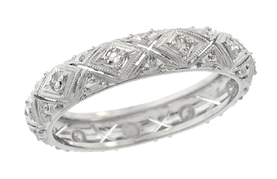 Stanwich Diamond Eternity Band in Platinum - Vintage Art Deco - Size 7 1/2