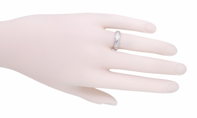 Art Deco Fenwick Diamond Antique Wedding Ring in Platinum - Size 6 - Item R1008 - Image 1