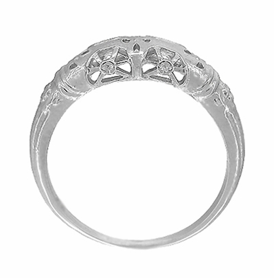 Art Deco Filigree Wedding Ring in Platinum - Item WR428P - Image 4